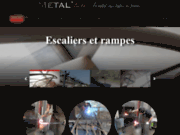 screenshot https://metalhou.fr/ Fabricant escalier en métal