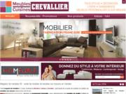 screenshot http://www.meubles-chevallier.com cuisine sur mesure à Corpe 85