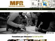 screenshot http://mfrduparc.asso.fr/ Formations en alternance dans la filière bois
