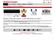 screenshot http://www.mineralogique.fr nouvelles plaques d'immatriculation personnalisées auto moto scooter