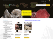 screenshot https://www.minerauxetfossiles.com vente en ligne des revues Le Règne Minéral et Fossiles