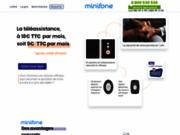 screenshot http://www.minifone.fr/ Téléassistance Minifone