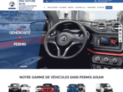screenshot http://www.minivoiture84.fr voitures sans permis neufs, occasions, location