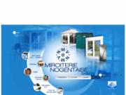 screenshot http://www.miroiterie-nogentaise.fr miroiterie vitrerie - menuiserie alu veranda pvc.