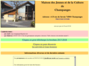 screenshot http://www.mjc-champanges.fr mjc de champanges - haute-savoie - 74