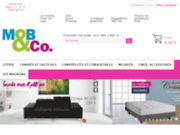 screenshot http://www.mobeco.com mobeco, vendeur agréé literie,canapés,convertibles