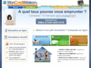 screenshot http://www.mon-credit-maison.fr comparateur de crédit maison