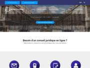 screenshot http://www.monavocatonline.fr/ conseil juridique