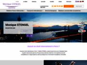 screenshot http://www.monique-stengel.com/ avocat litige international relations européennes
