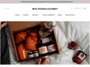 screenshot http://www.monpaniergourmet.ca livraison de petits déjeuners cadeaux.
