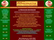 screenshot http://www.montessori-formations.fr connaître et se former à la pédagogie montessori