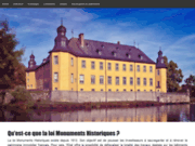 screenshot http://monuments-historiques.eu/ monuments historiques