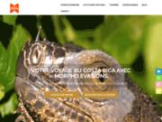 screenshot https://morphocostarica.com/ agence de voyage sur mesure au Costa Rica