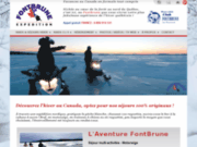 screenshot http://motoneige-canada.net Séjours motoneige au Canada