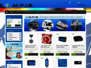screenshot http://www.mpis.fr Matériel d'électronique marine