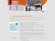 screenshot http://www.mvcarrelage.be entreprise de chape et carrelage namur
