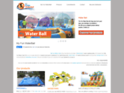 screenshot http://my-fun-waterball.com Vente de water balls et de structures gonflables