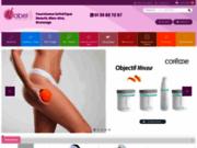 screenshot http://www.nabel-esthetique.fr nabel esthétique, fournisseur beauté, bien-être, bronzage.