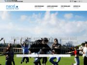 screenshot http://www.nacel.org cours de langue, jobs et volontariat à l'étranger