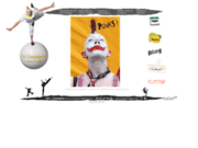 screenshot http://www.nancompagnie.fr spectacles de rue,echasses, clown