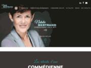 screenshot http://www.nataliebertrand-voix-off.com/ comédienne voix-off féminine paris toulouse