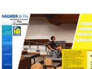screenshot http://www.negrier-accessibilite.fr/ monte escaliers et plateformes élévatrices négrier