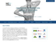 screenshot https://www.neo-forma.fr Formations gestes et postures de travail