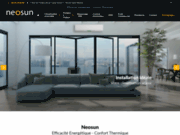 screenshot http://www.neosun.fr/ climatisation réversible