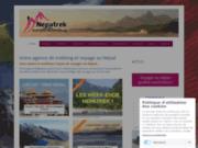 screenshot http://www.nepatrek.com Agence de trek