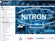 screenshot http://www.nitron-components.be/ distributeur de composants électroniques à nivelles belgique et valenciennes france