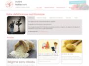 screenshot http://www.noblecourt-dieteticienne.com/ réduire son cholestérol et son diabète nord