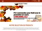 screenshot http://www.noisettines.fr les noisettines du médoc, confiseries artisanales