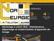 screenshot http://www.norlevage.com/ entretien et la maintenance préventive ou curative de tous vos équipements