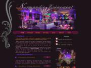 screenshot http://normandie-evenement.com sonorisation,musique pour mariage en normandie,