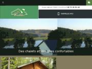 screenshot http://www.normandie-gites.com/ village de chalets, gîte de france et chambres d'hôte, location à fécamps 76