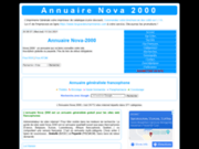 Annuaire Nova 2000