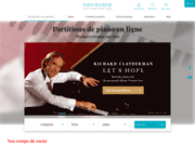 screenshot http://noviscore.fr des partitions piano révolutionnaires !