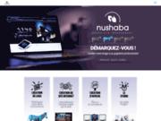 screenshot http://www.nushaba.fr graphiste lille