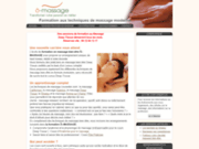 screenshot http://o-massage.fr formation massage