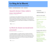 screenshot http://www.objectifsliberte.fr le blog de la liberté