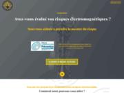 screenshot https://www.ocpray.fr Prenons ensemble la mesure des risques électromagnétiques.