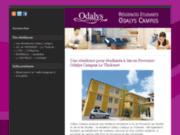 screenshot http://www.odalys-campus-aix.com résidence étudiant odalys campus le tholonet à  aix en provence