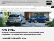 screenshot http://www.opel-astra.fr nouvelle opel astra