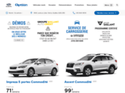 screenshot http://www.optionsubaru.com option subaru de québec