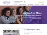 screenshot https://www.optiquedelamanu86.com/ opticien à Châtellerault 86100