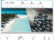 screenshot http://ora-perles.com/ perles de culture