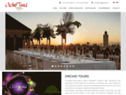 screenshot http://www.orchid-tours.com agence voyage marrakech