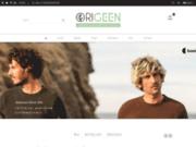 screenshot http://www.origeen.fr vêtement écologique pour hommes
