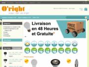 screenshot http://www.oright.fr Fabricant et distributeur ampoule LED