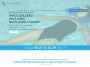 screenshot http://www.osteo-aquatique-64.fr Ostéopathe à Anglet